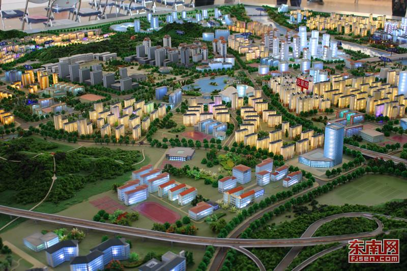 展示开发建设武夷新区南林核心区,该核心区域规划总面积为9.9平方
