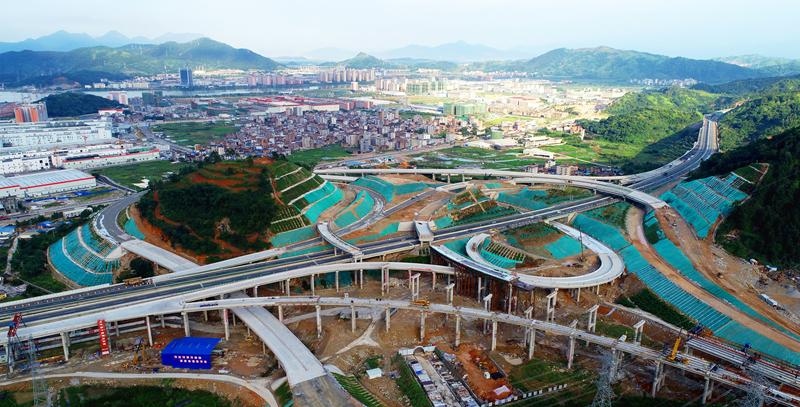 全省在建最大高速互通——宁古高速六都互通顺利推进